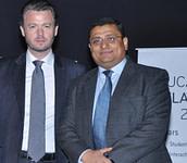 LIA Munish Sekhri with Mr. Feilim McLaughlin - Ambassador of Ireland in India — at Embassy of Ireland.
